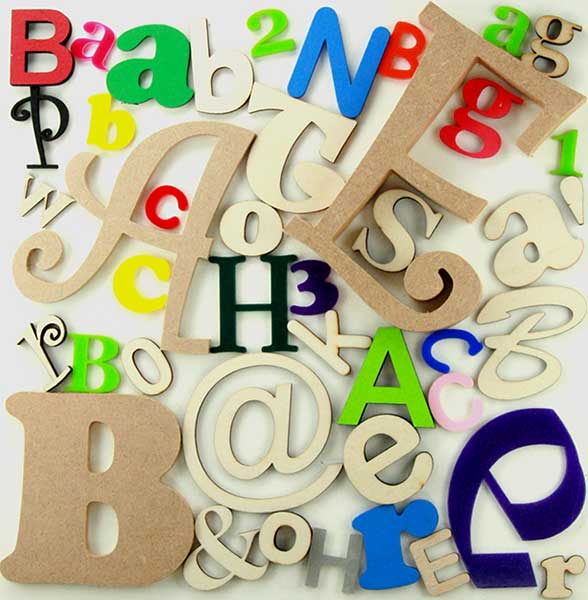 672a0e5ace3c Letters Individual Order Page Shapes in wooden ply MDF acrylic felt