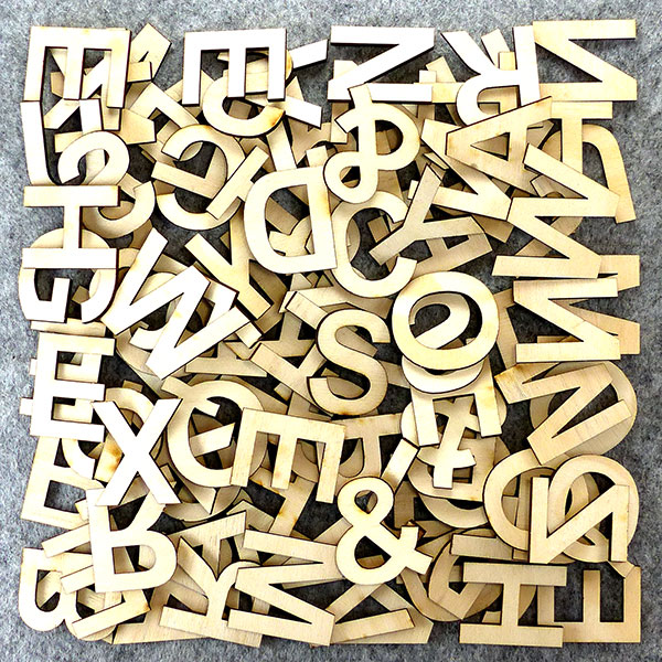Infinite Letters: Craft blank cutout in wooden ply MDF